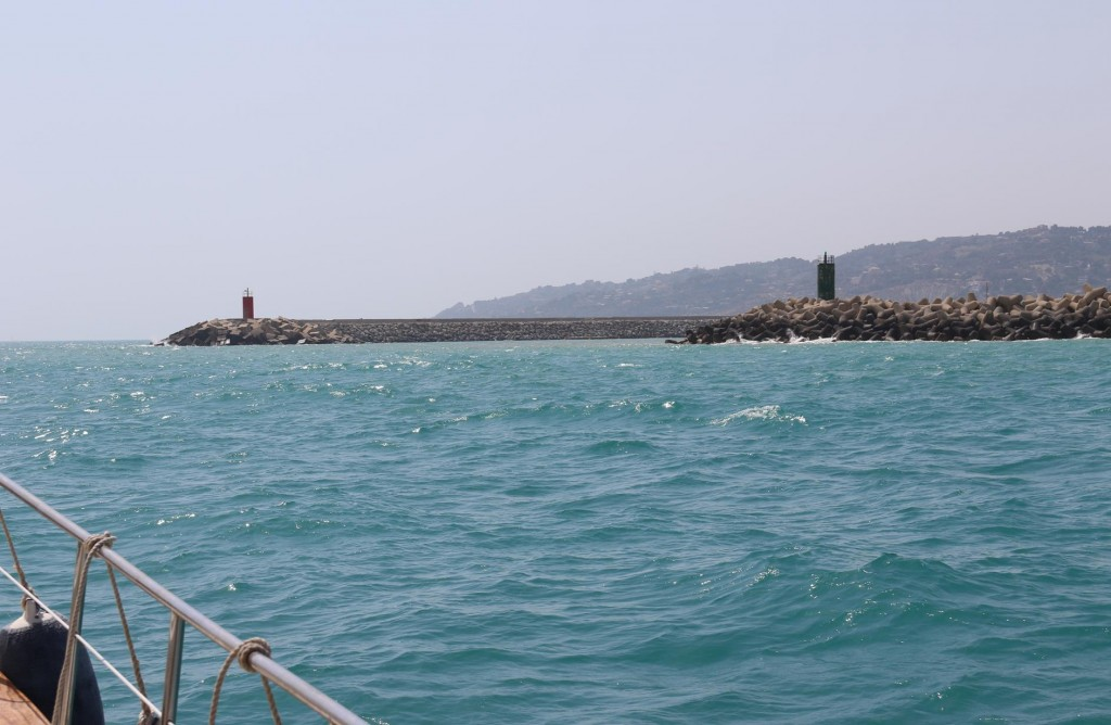 We approach the port of Licata which is our next stop on our journey west along the Sicilian coast