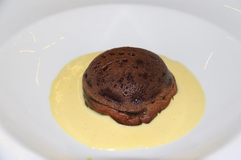 My Choice was the Most Divine Chocolate Pudding with Lemon Sauce