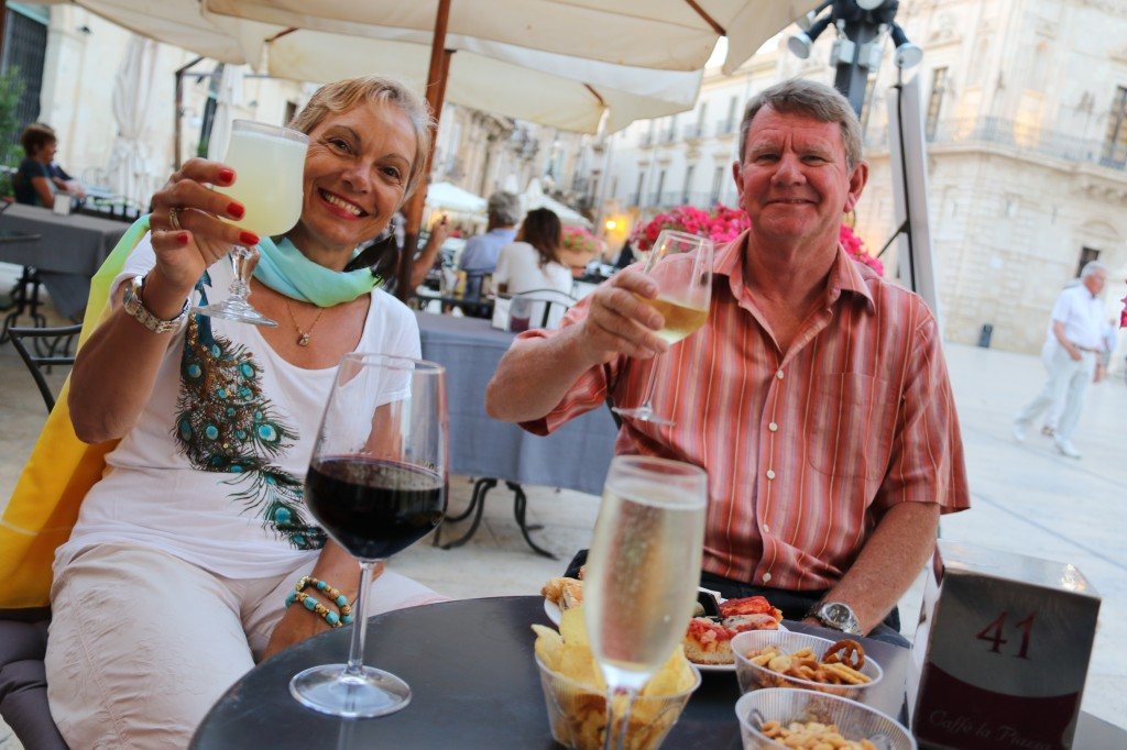 John and Eva join us for dinner tonight