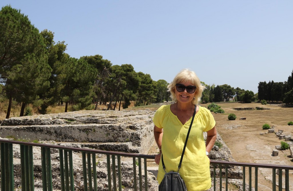 Unfortunately the Roman theatre was under restoration and was closed during our visit