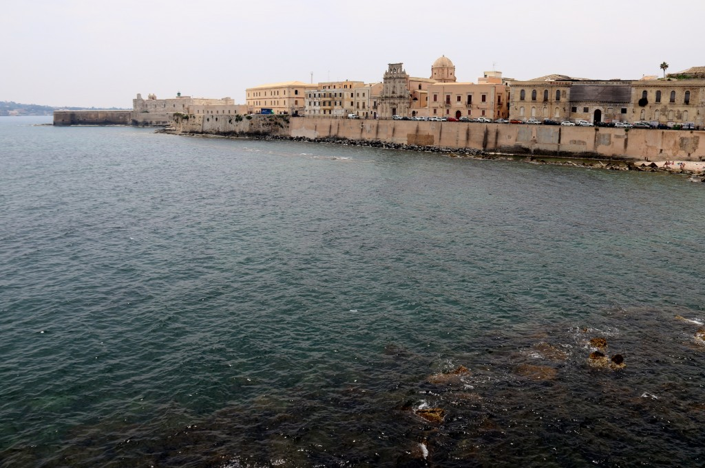The stunning coastal view of Ortigia