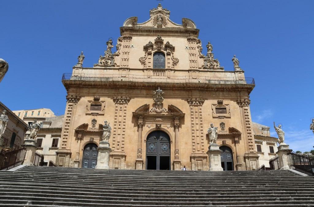 Façade of the Baroque church of San Pietro.