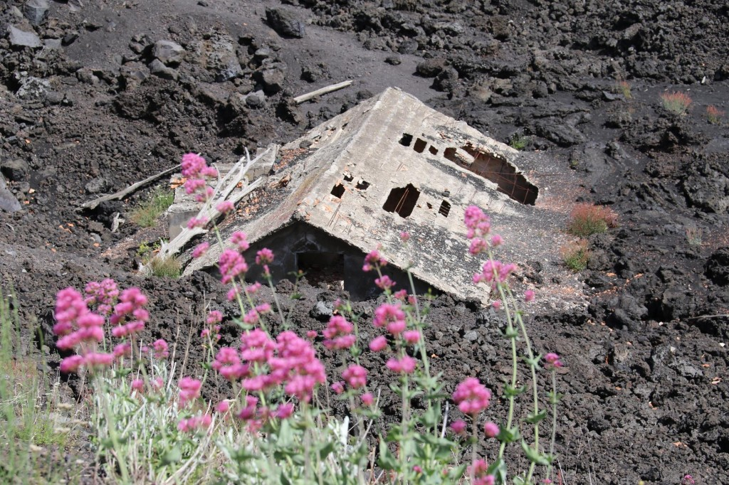 It is sad to see someone's home swallowed up by an eruption