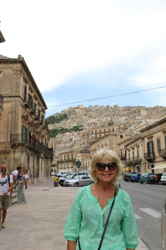 Corso Umberto is the main street of Modica which in past centuries was where a river flowed through the valley