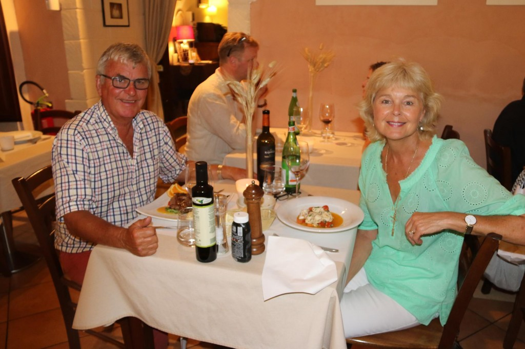 After joining our friends for a drink we had dinner in a delightful restaurant near the marina
