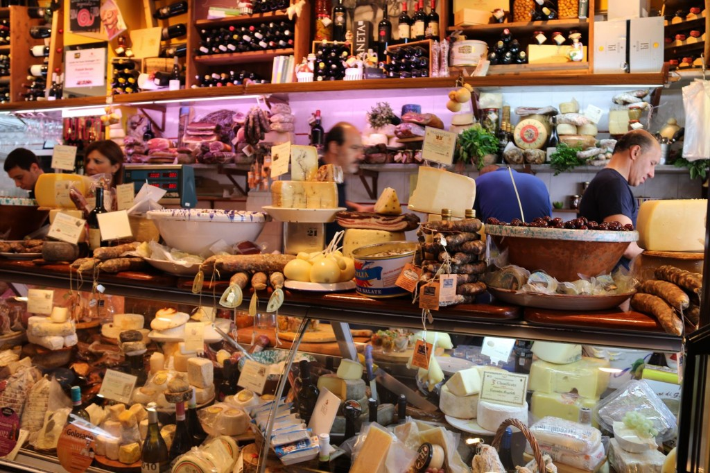The quantity of delicacies from all over Italy is impressive