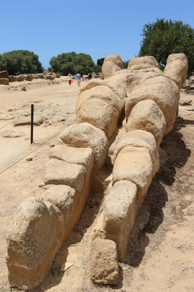 The remains of a statue from the Temple of the Olympian Zeus