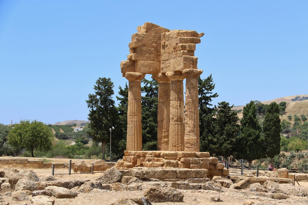 The remains of the Temple of Castor & Pollux built  in the 5th Century BC