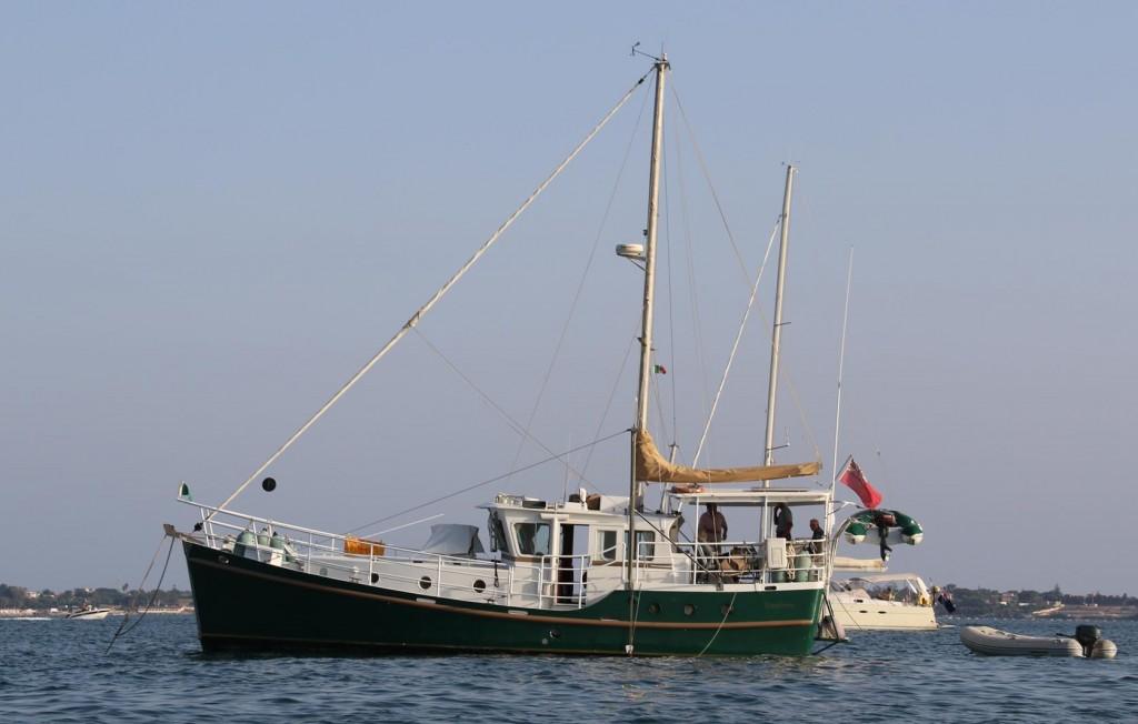 John and Eva's boat 'Destiny'