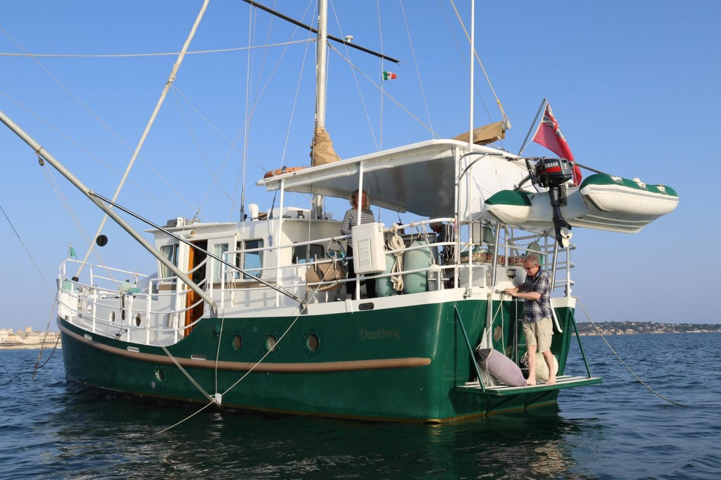 We are invited aboard for drinks tonight