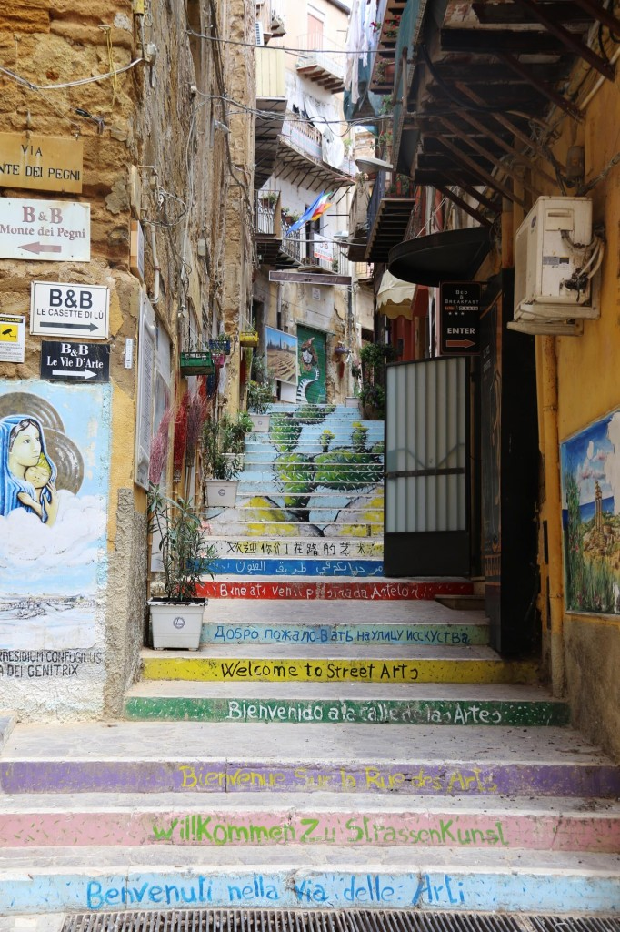 Walking through the old town we come across this artistic narrow stairway