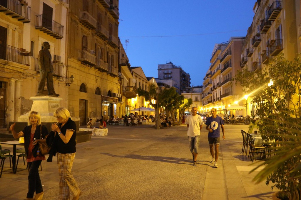 In the evening the streets become busy as the locals and visitors come out