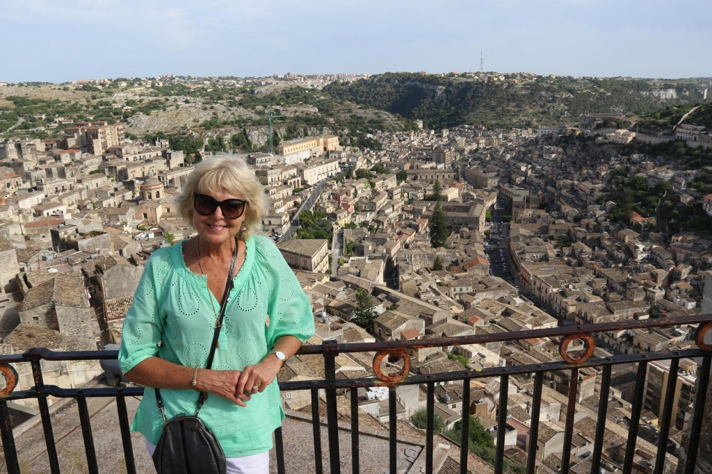 The amazing view from high above Modica