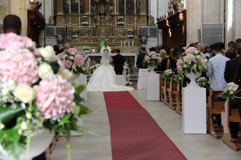 Visitors were welcome to observe the wedding