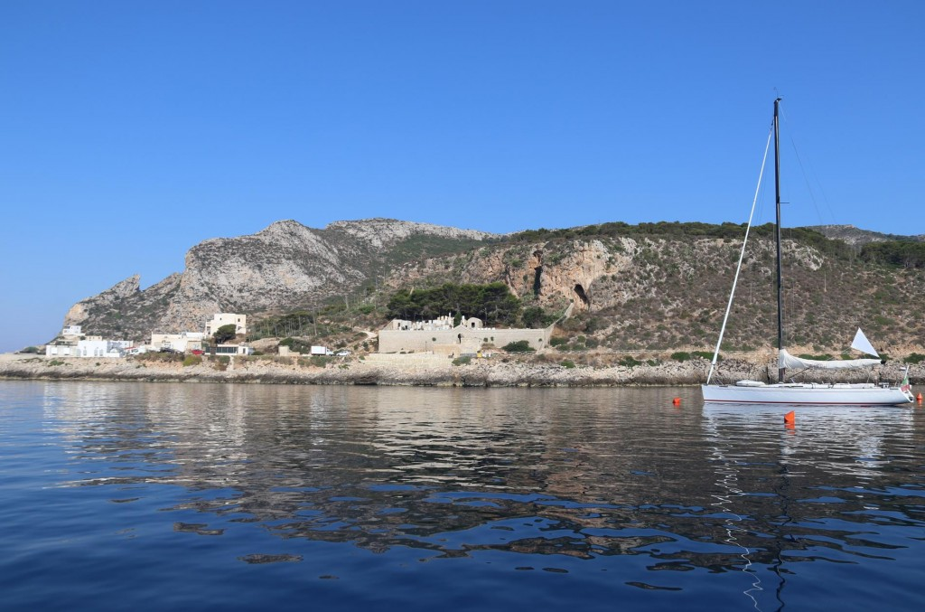 Early morning looking over to Cala Dogana