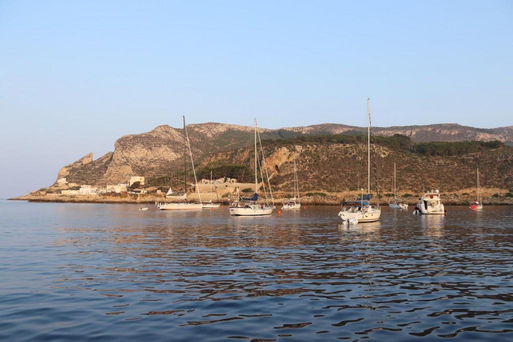 Early morning in Cala Fredda on Levanzo Island