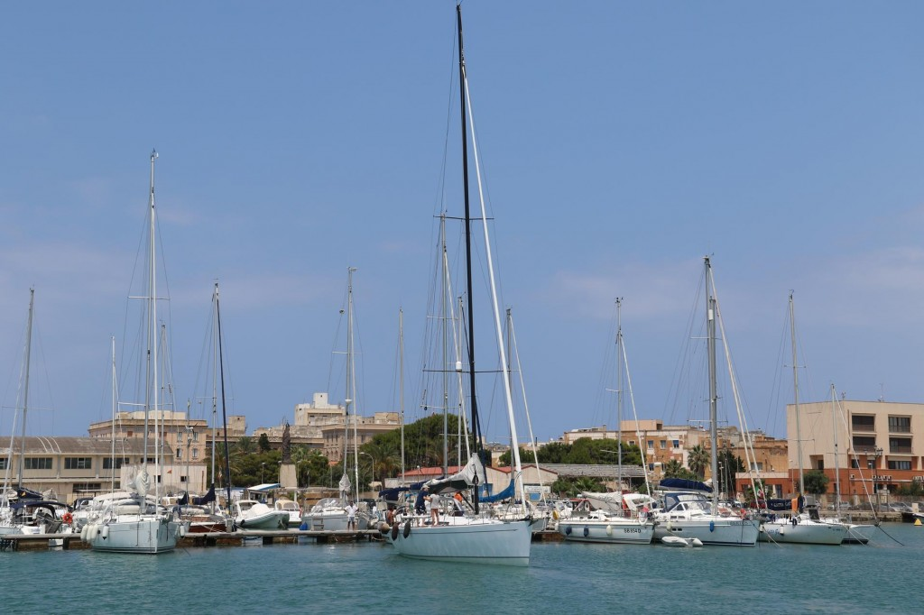 Colombus Marina where we have based ourselves while in Trapani