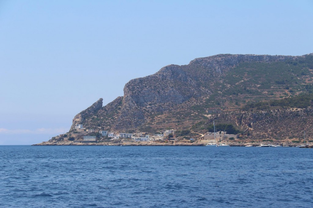 Approaching Isola Levanzo, one of the beautiful Egadi Islands not far off the coast from Trapani