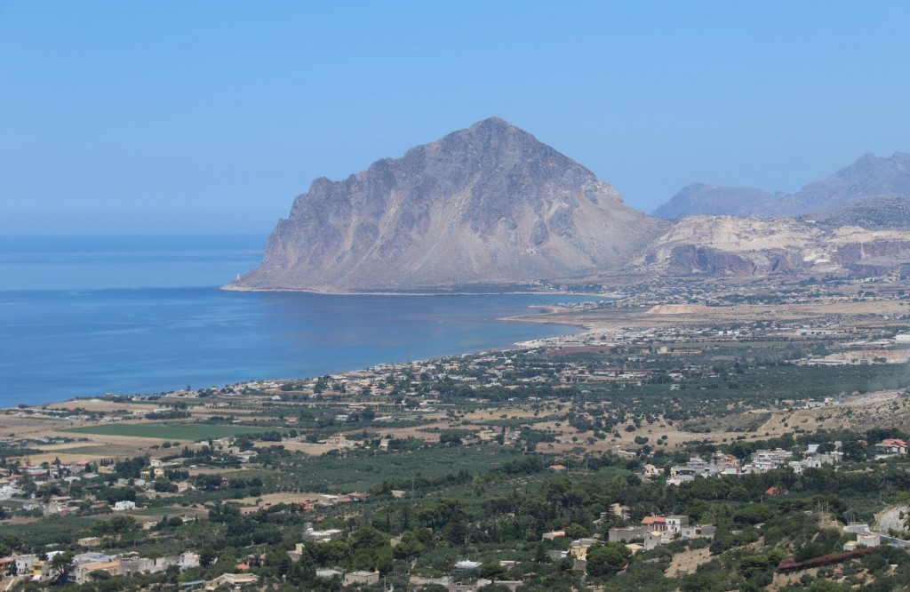 The views over the coastline from the winding road to Erice were outstanding