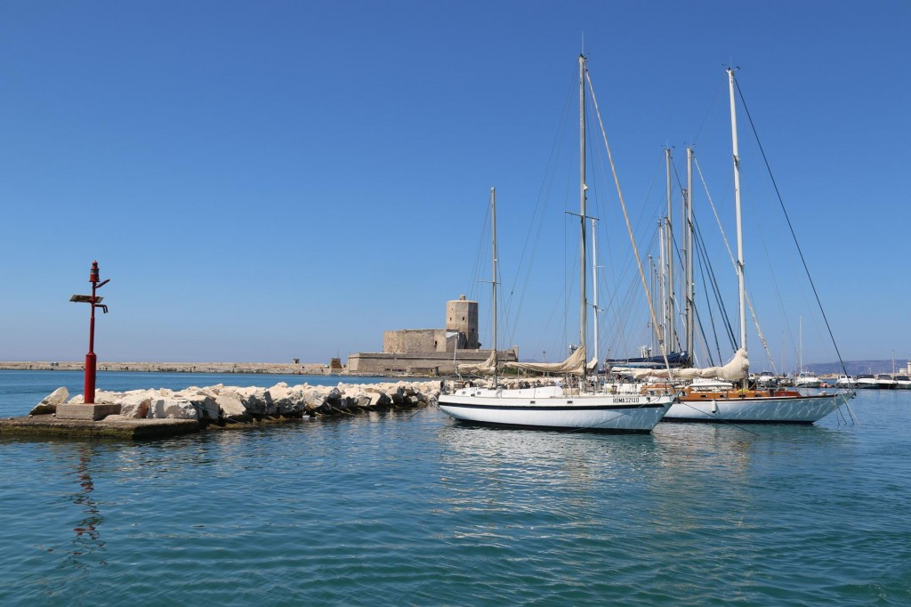 The Port of Trapani in ancient times was originally the port for the nearby ancient hilltop town of Erice