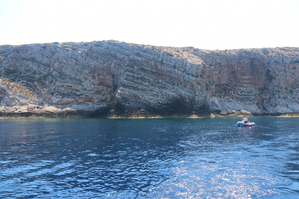 The rugged cliffs of the coastline  here were quite spectacular
