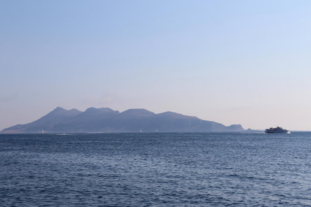 The island of Favignana is only a few nautical miles south of Levanzo