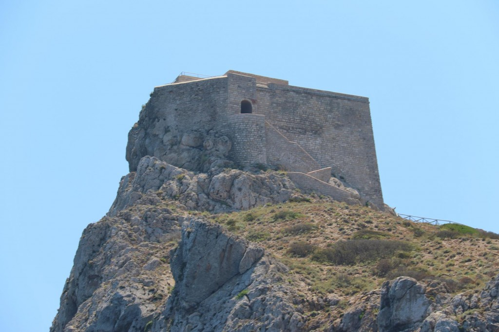 The Punta Troia fort sits high above overlooking two bays in the north east of Marettimo