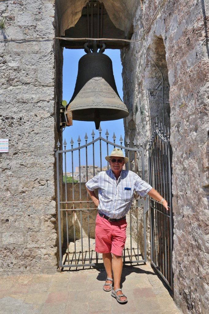 As we left the top of the tower the bells began to ring!!!
