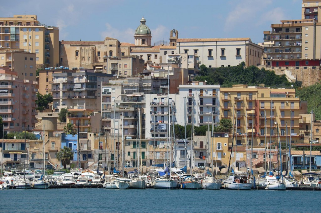 We radio in to secure a berth in the Marina Cale Del Sole