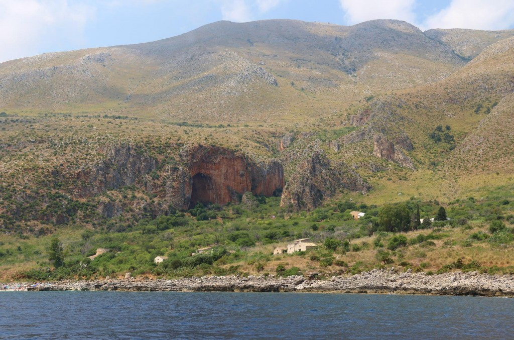 We approach the beautiful natural reserve along the coast called Zingaro