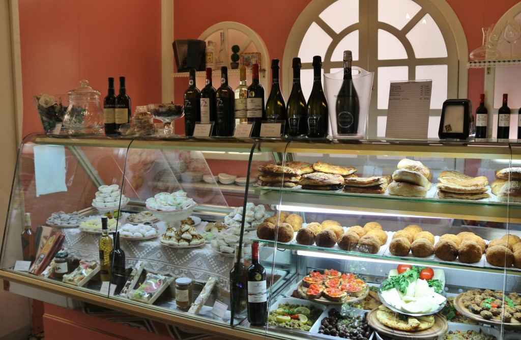 Local wines and delicacies on offer for lunch today
