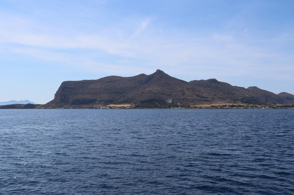 We head towards the island of Favignana which is approximately 6 km from the Sicilian west coast
