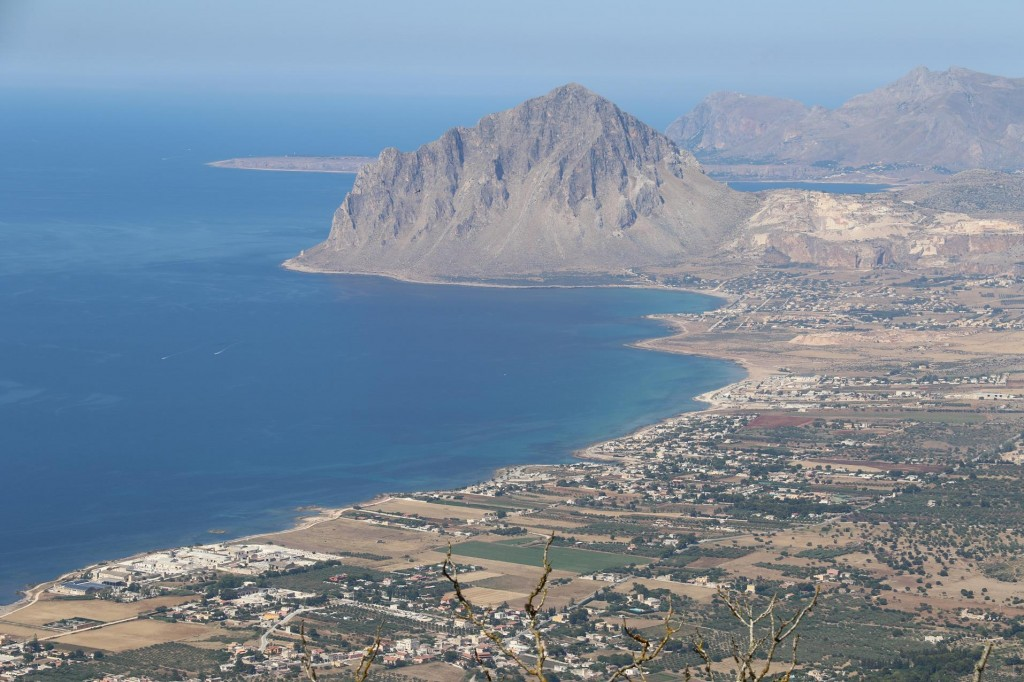 From the castle there are amazing views overlooking Monte Cofano and the town of Custonaci