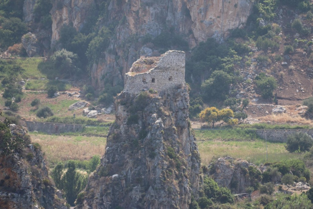 There are ancient ruins in the area including one perched on a high rock by the water