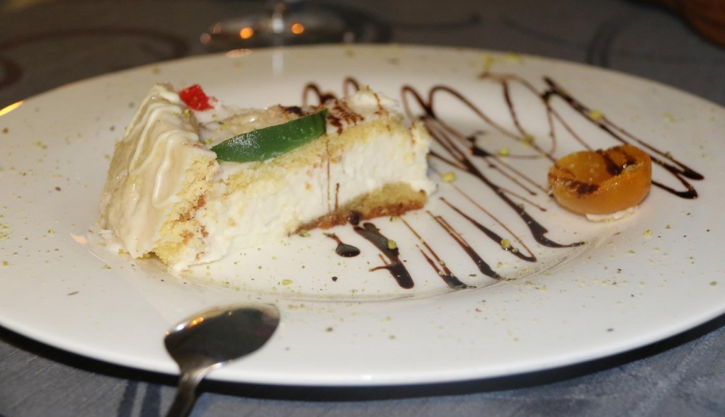 We were talked into sharing  the cassata cake which was delicious