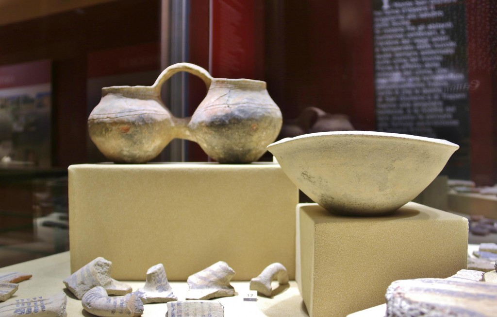 Ancient pottery and artefacts are on display at the newly renovated museum