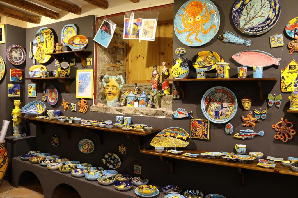 Sicily is famous for it's ceramics and this shop in Erice had some wonderful pieces on display