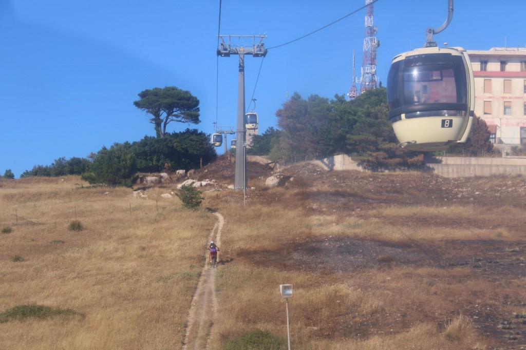 On our return to Trapani we took the cable car to the bottom of the hill