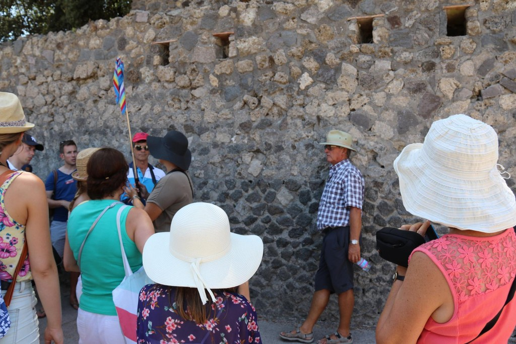 We arrive at the ancient site of Pompeii and join a 2 hour tour around the site