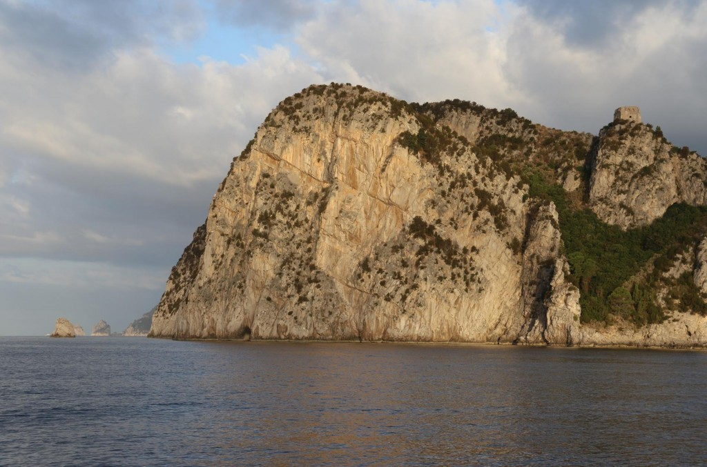 The early morning light on Punta Campanella , the south west tip of the Sorrento Peninsular