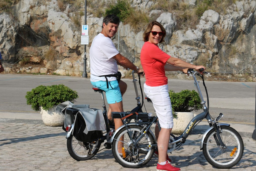 Don and Susie test out the new bikes