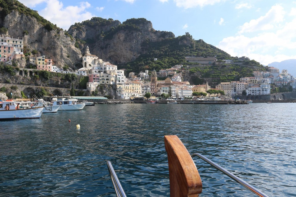 We were so fortunate to have such a perfect position in Porto d'Amalfi for a couple of days