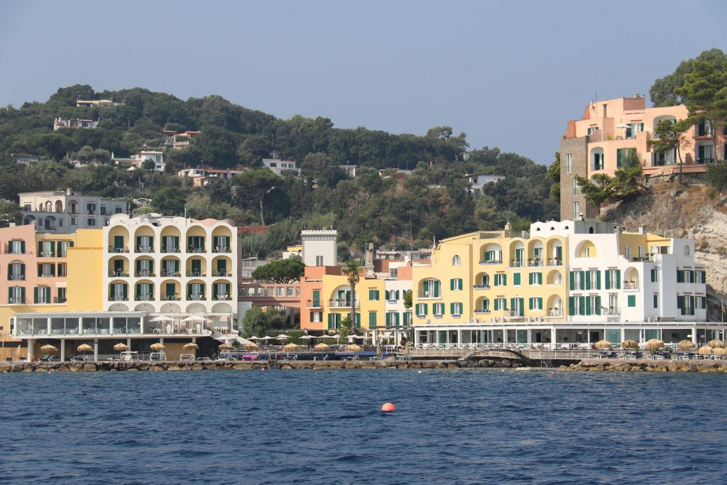 Lacco Ameno where we stayed  has numerous hotels and is a popular holiday destination on Ischia Island