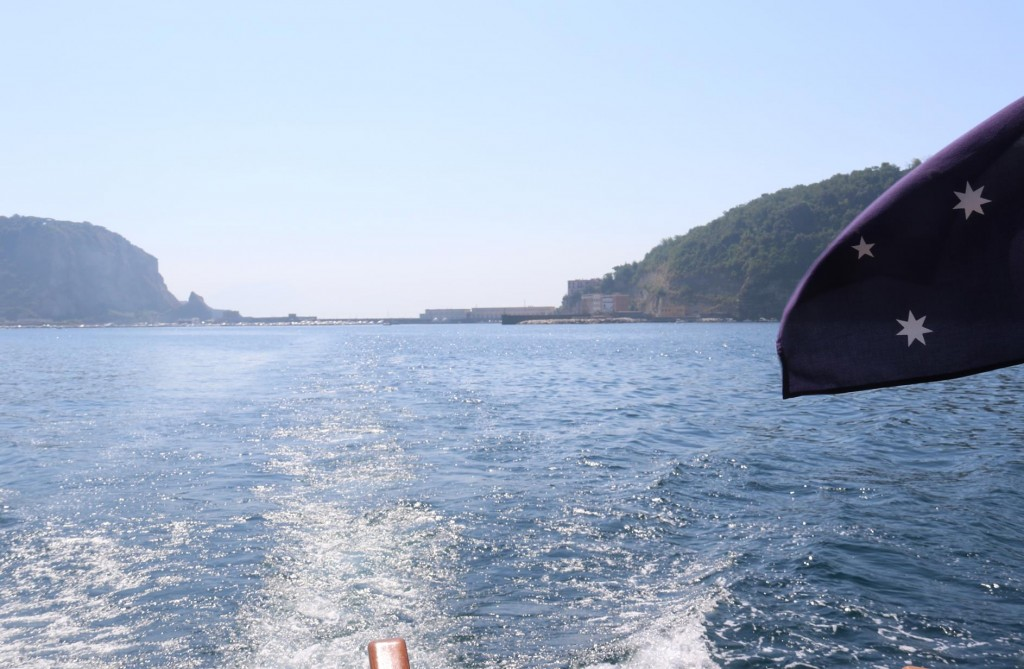 We depart from our overnight anchorage from under Isola di Nisida