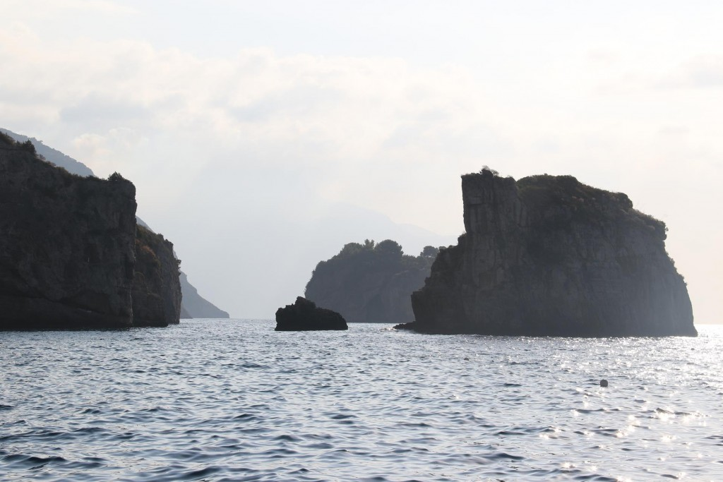 Early morning view east from our mooring in Cala Punta di Sogno