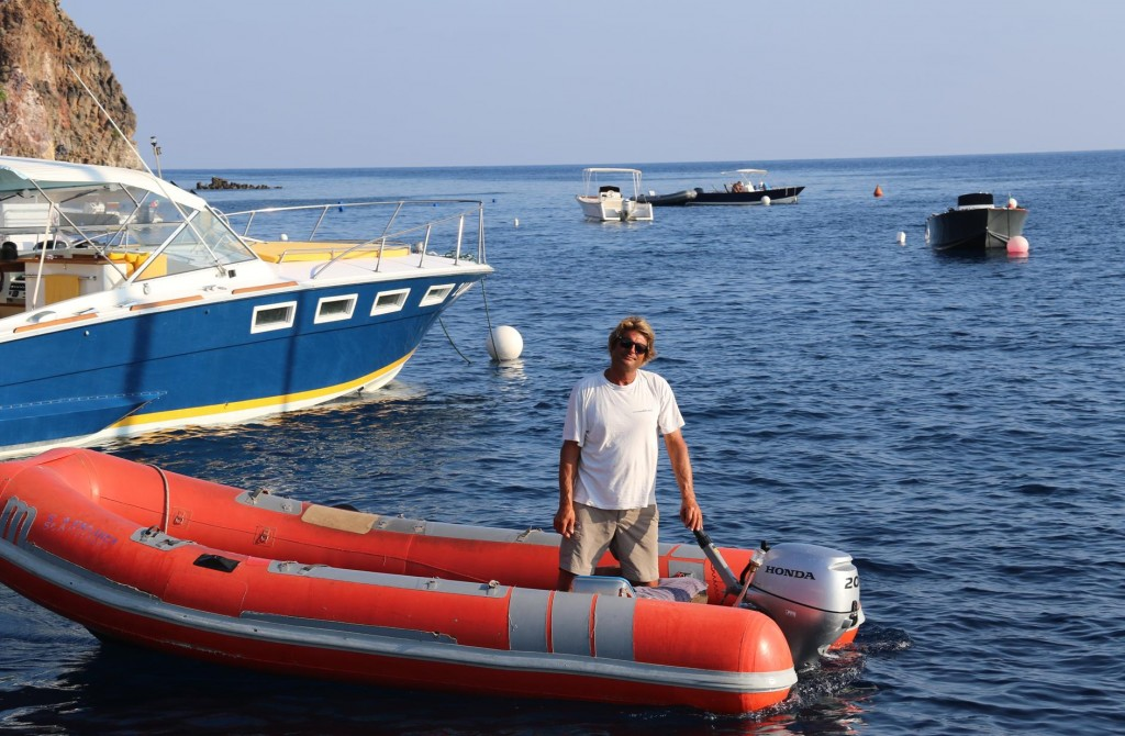 Our very friendly boat jockey