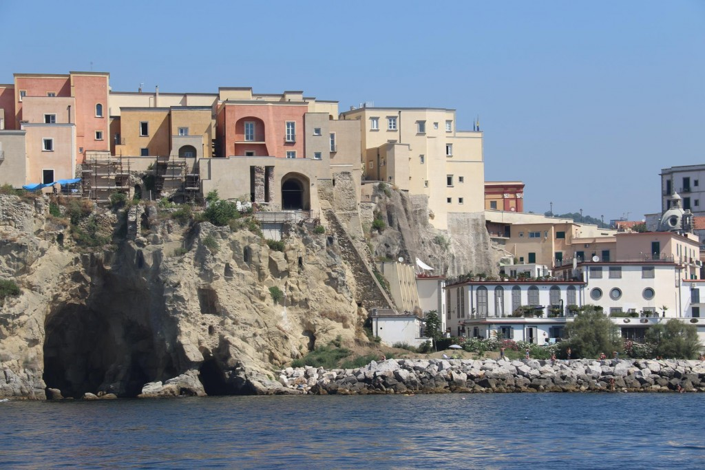 We pass the town of Pozzuoli which in ancient times was a major port for Rome