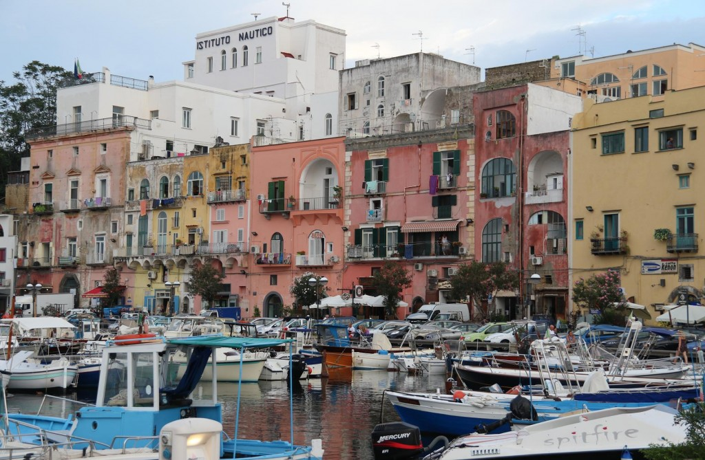 The marina is in the old town of Sancio Cattolico, which is just over the hill from Cala di Corricella