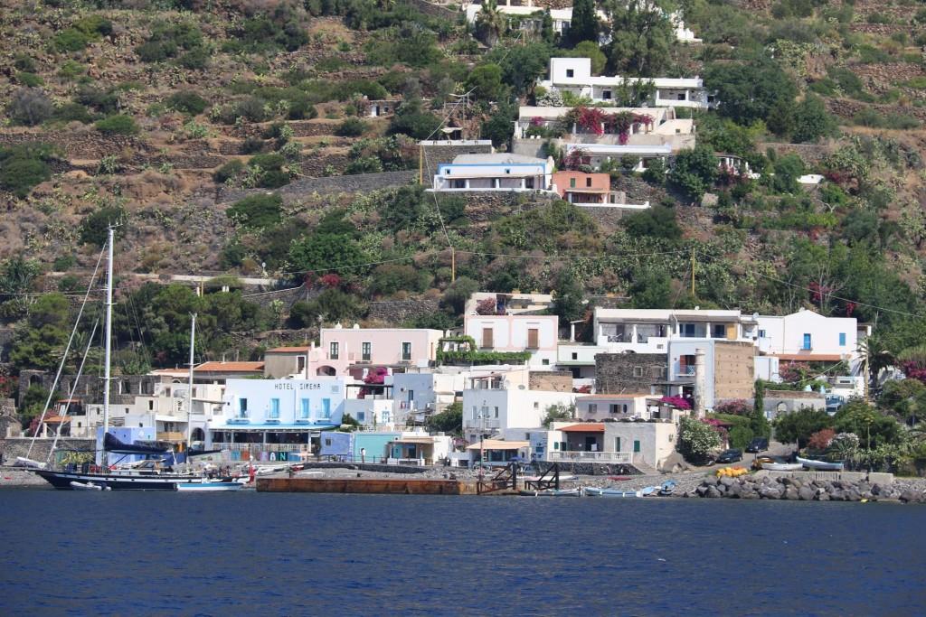 We leave the small port of Pecorini a Mare on Filicudi Island