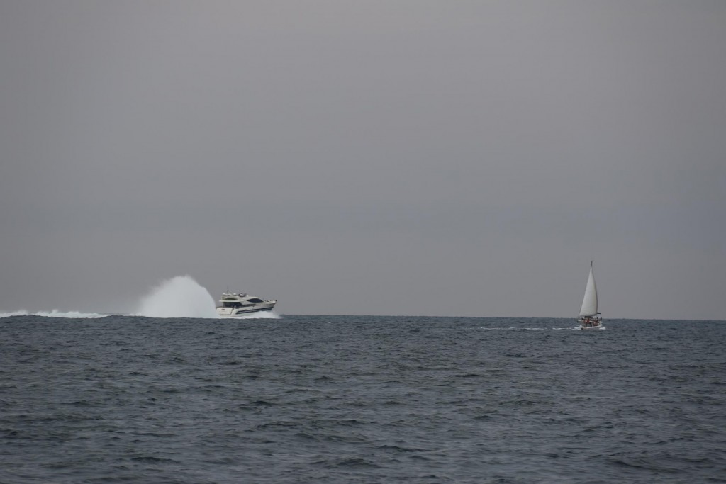 The rooster tail is common behind many Italian boats!!
